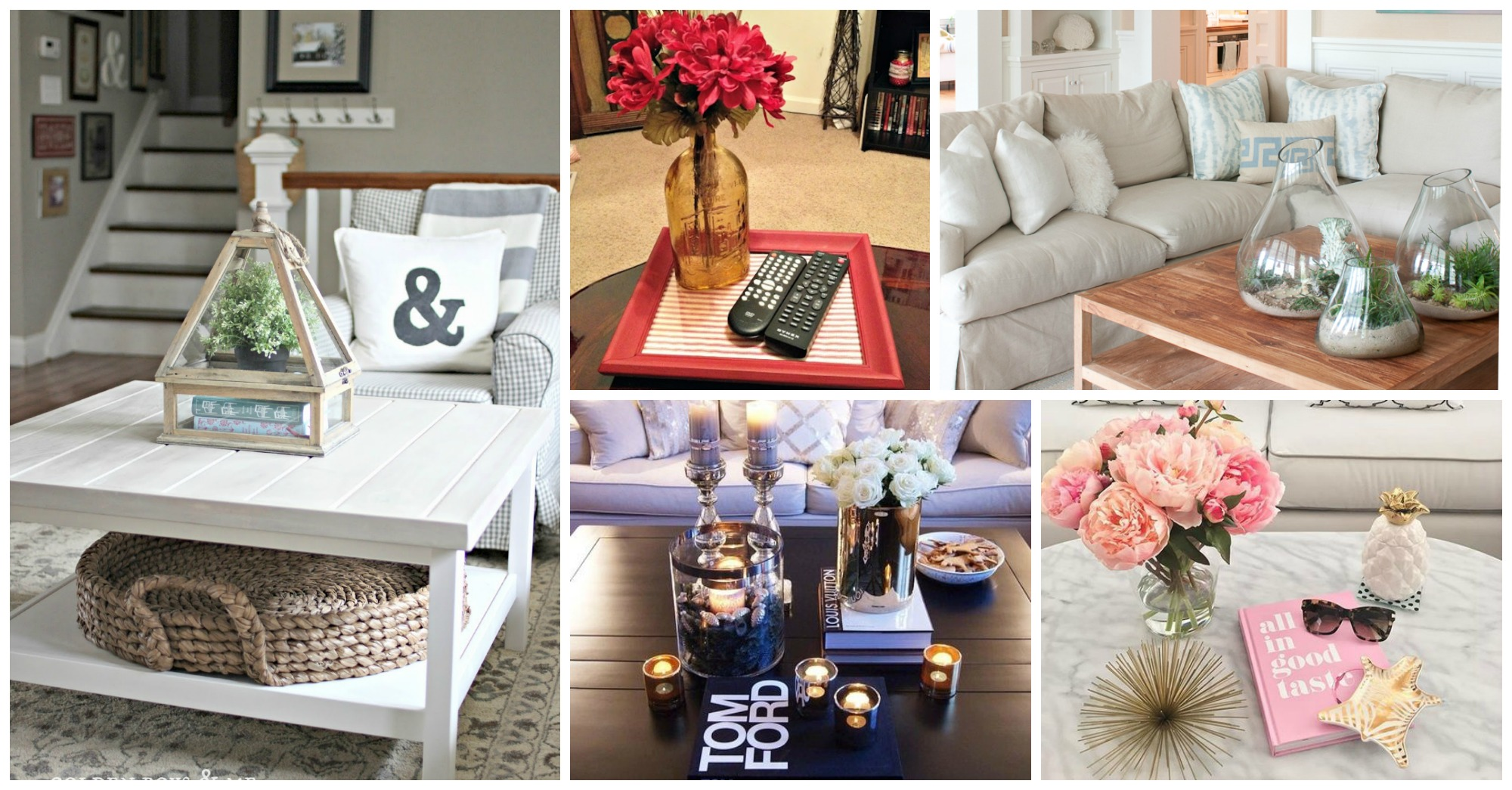 12 Low Cost Coffee Table Decor Ideas That You Will Love
