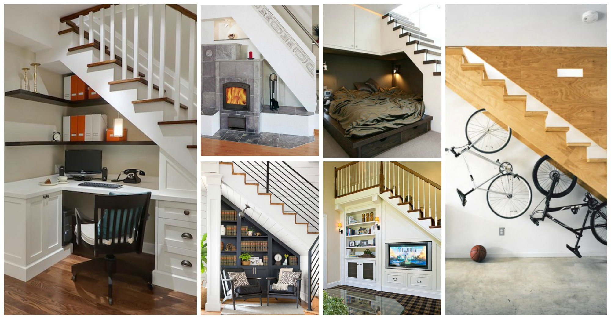 12 Smart Ideas To Use The Space Under The Stairs