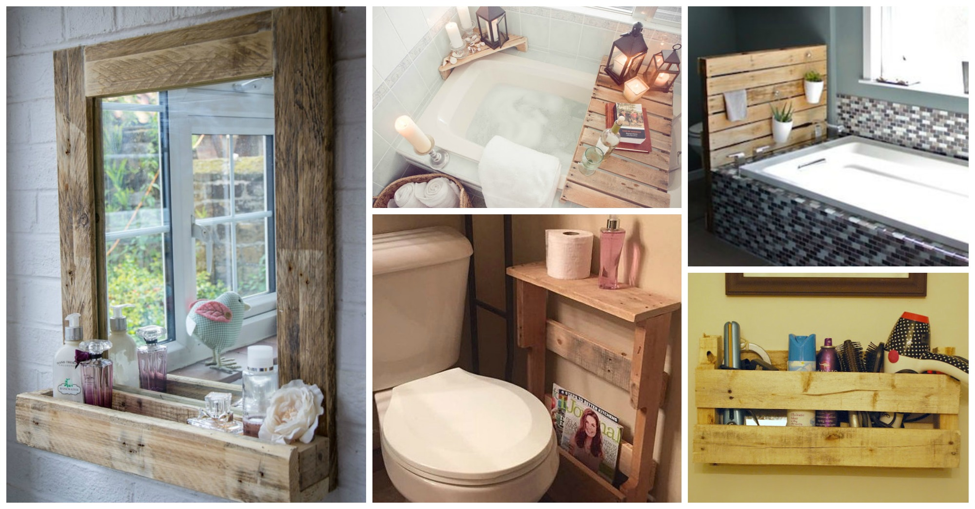 10 Low-Cost DIY Pallet Projects for Your Rustic Bathroom