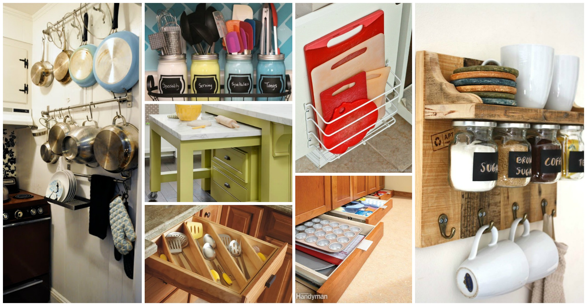 10 Clever Ideas to Squeeze a Little Extra Storage Out of Your Small Kitchen