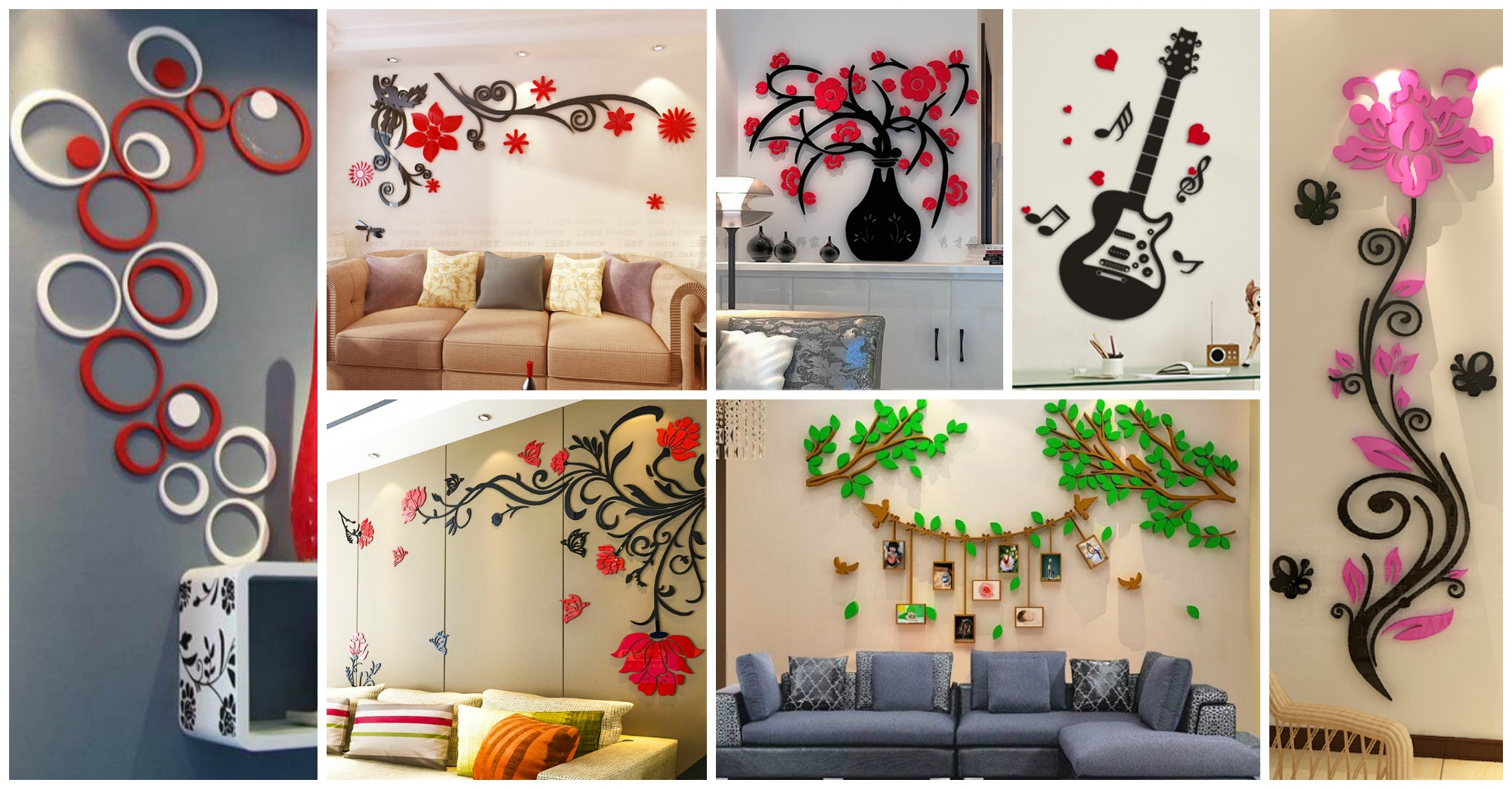 20 Ideas To Add Dimension And Color Your Home With 3D Wall Stickers