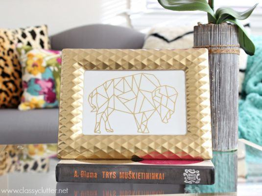 DIY-Gold-Foil-Print-Geometric-Buffalo