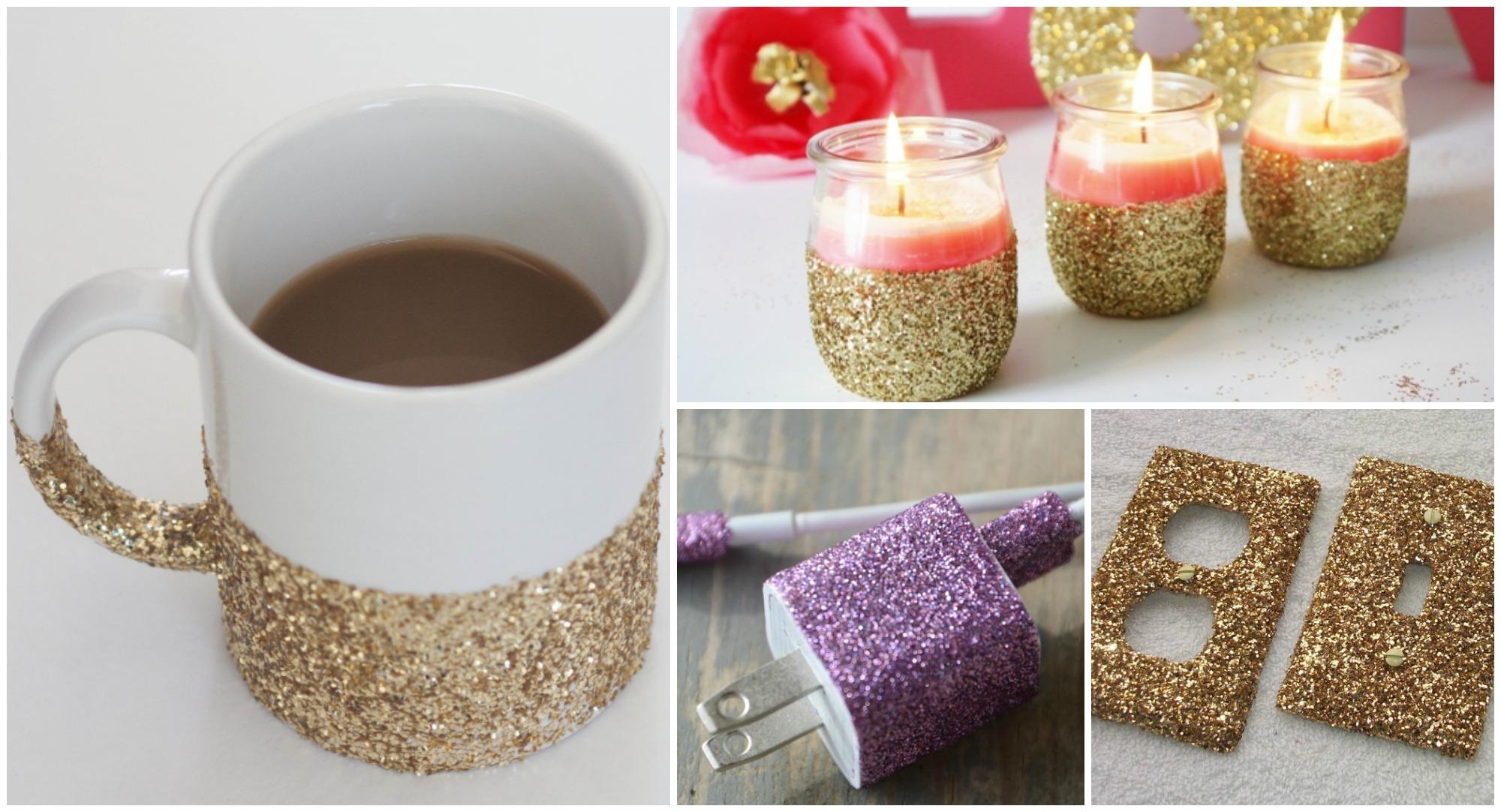 19 Shiny DIY Glitter Ideas You Will Love