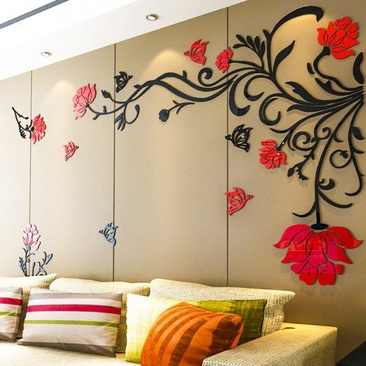 Floral 3d Wall Stickers For Any Room In Your Home