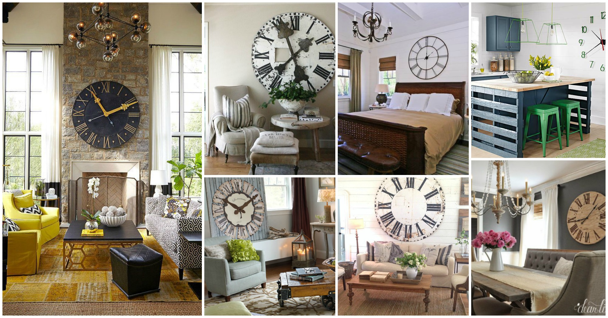 11 Outstanding Interior Designs with Large Clocks