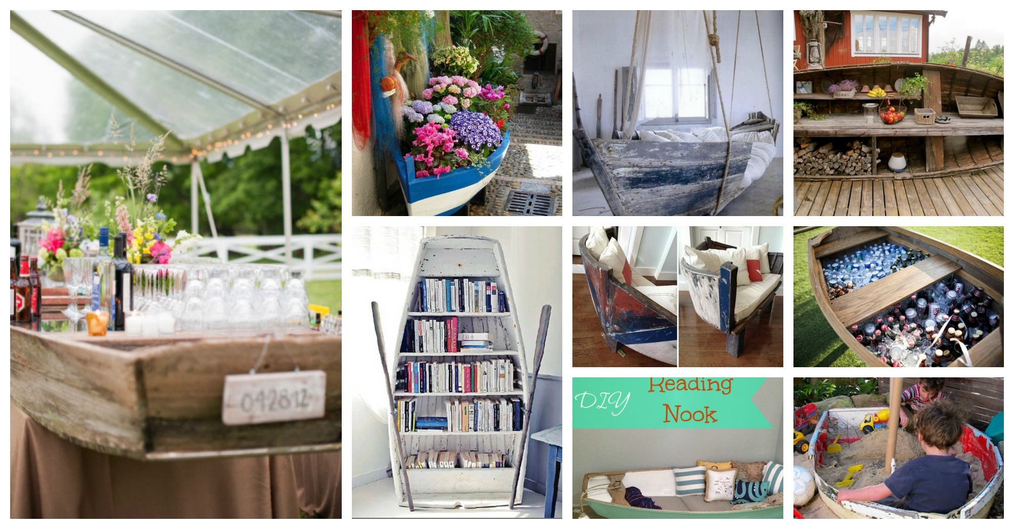 Fantastic DIY Ways To Repurpose Boats In Home Decor
