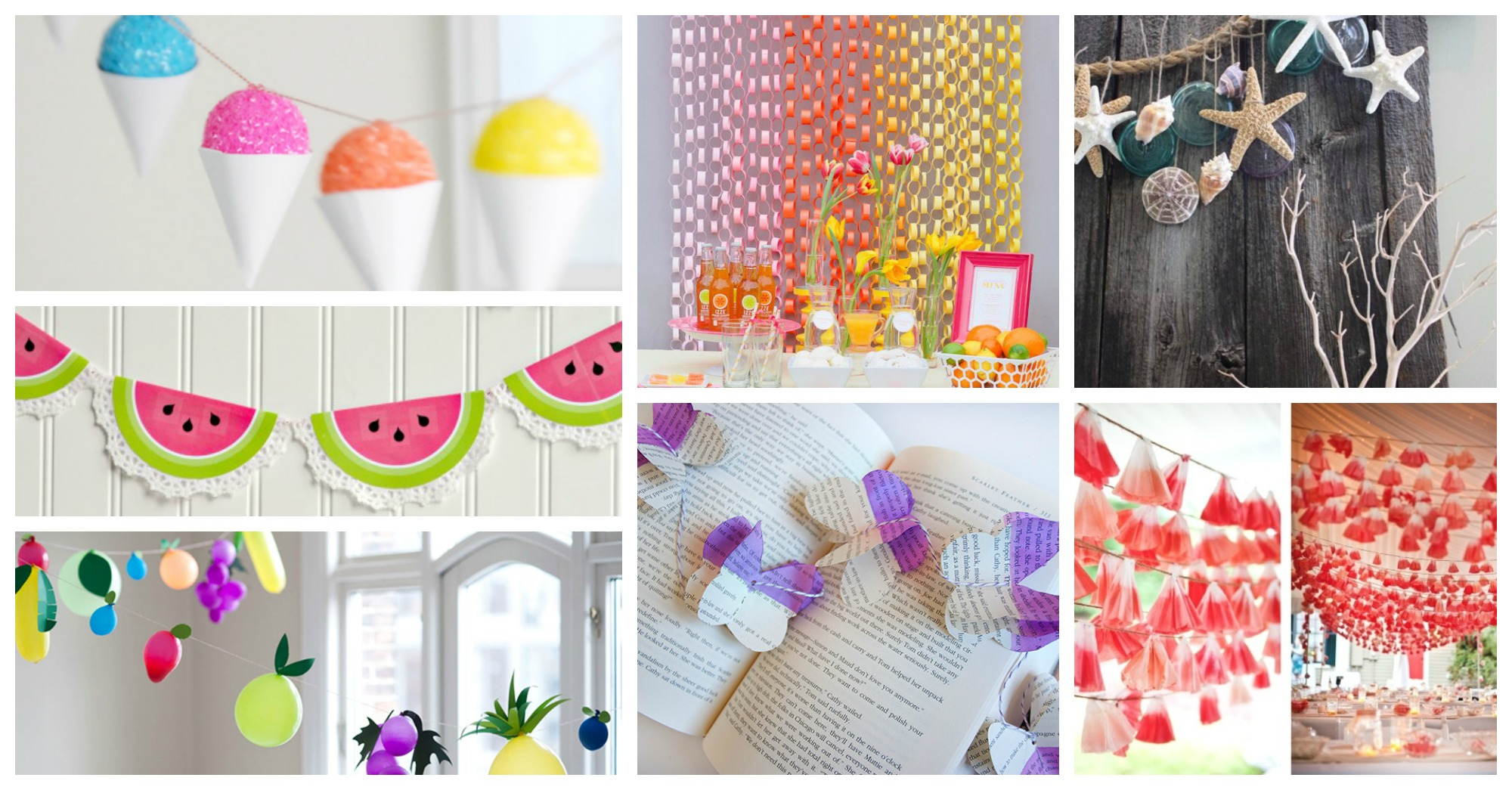 Cool DIY Summer Party Garlands That Will Set The Tone