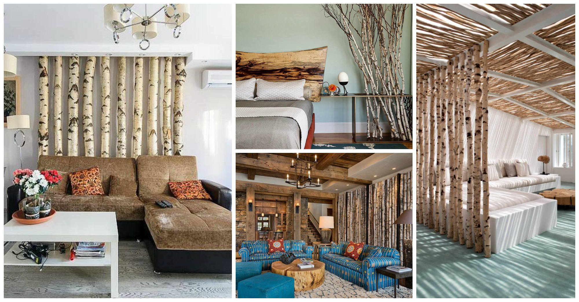 12 Amazing Ways To Use Actual Birch Trees In Your Interior