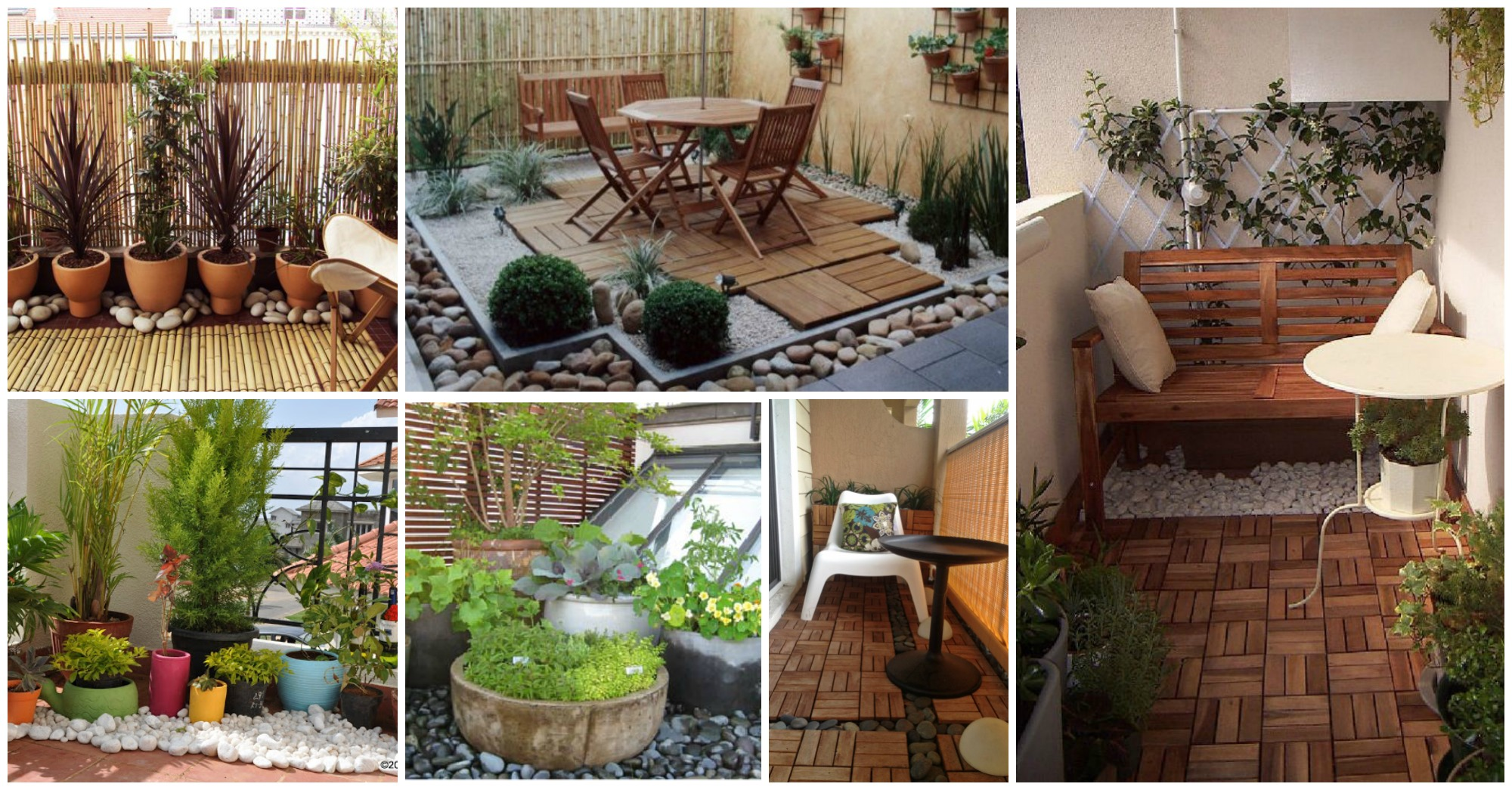 amazing ways to decorate your balcony with pebbles