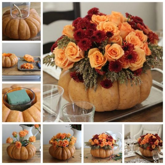 creative-ideas-diy-pumpkin-vase-thanksgiving-centerpiece