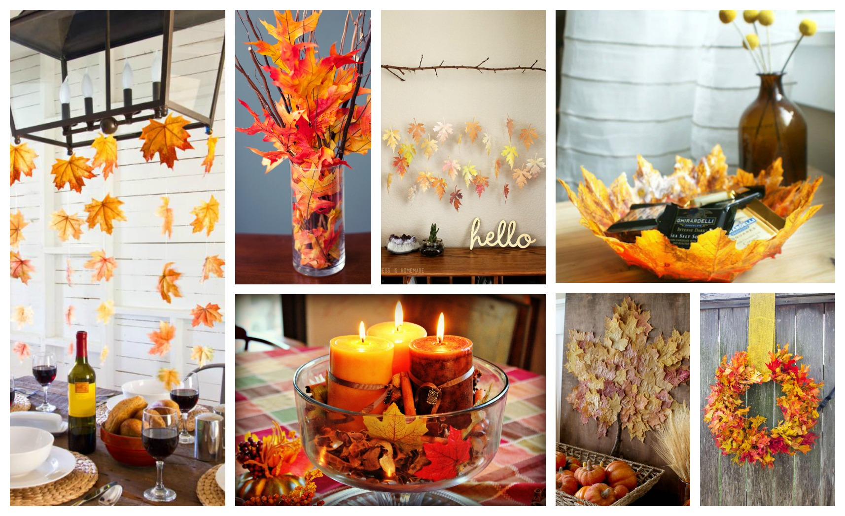 Adorable Golden DIY Fall Leaves Crafts That Will Make Your Home Look Amazing