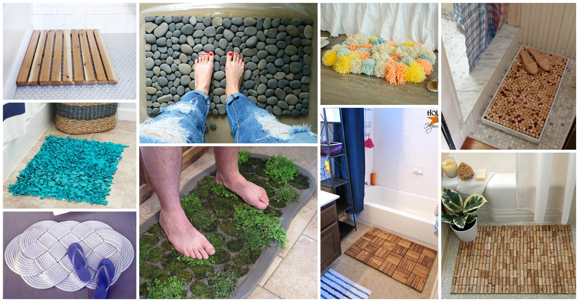 10 Creative DIY Shower Mats