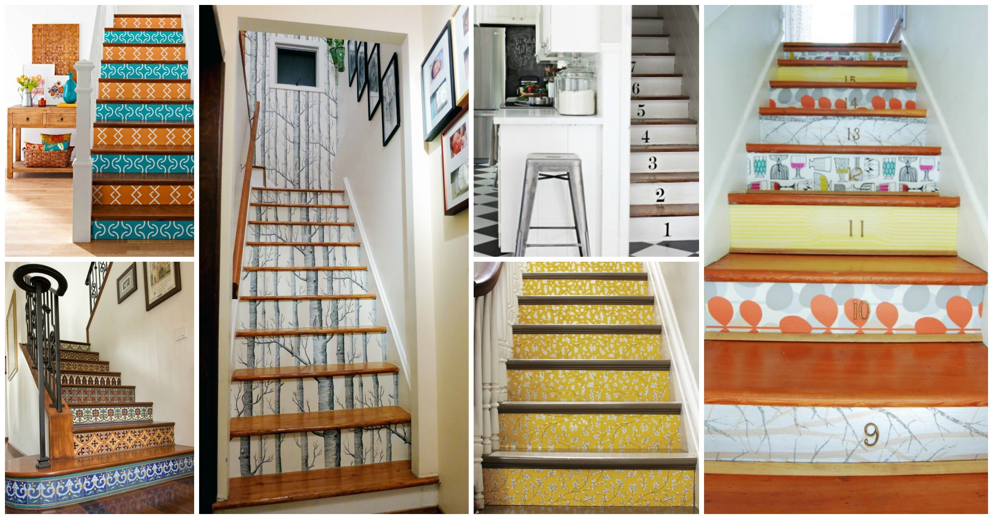 17 Awesome Ideas to Dress Up Stair Risers With Vinyl Decals