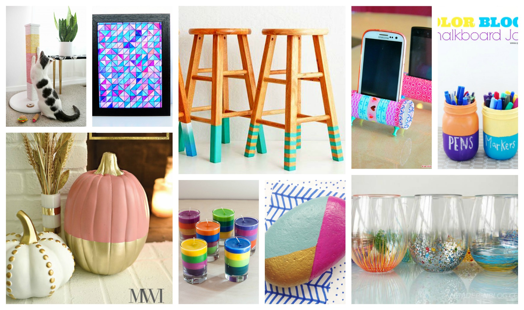 Awesome DIY Colorful Crafts That Will Brighten Your Day