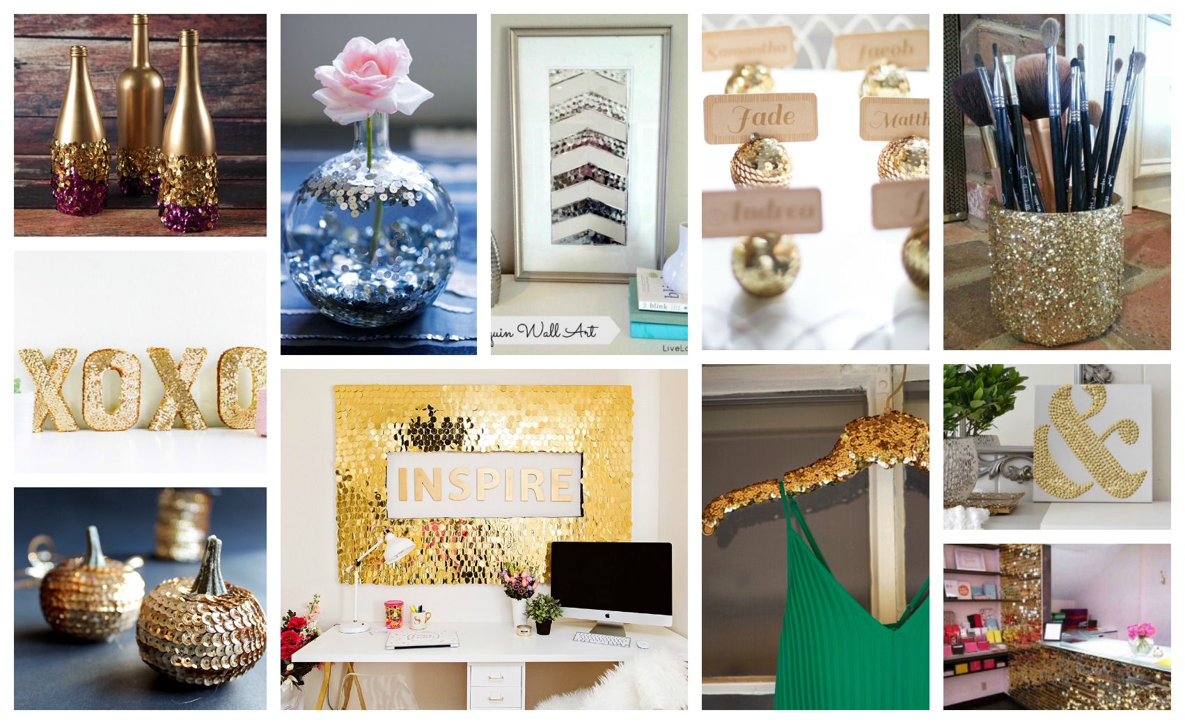 Sparkling DIY Sequins Designs That Will Make Your Home Shine
