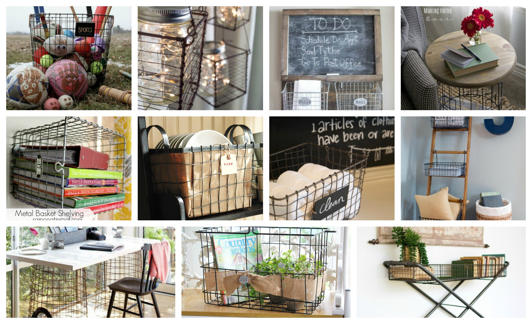 Fabulous DIY Projects That You Can Do With Wire Baskets