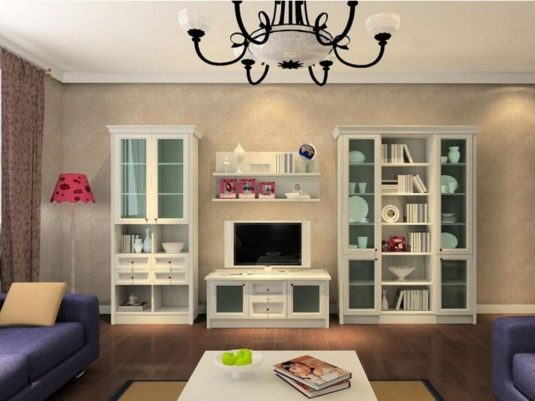 extraordinary great ways to furnishing small living room | How To Decorate Your Glass Cabinets In Extraordinary Ways