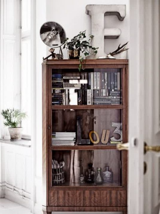 8290838d8f5 How To Decorate Your Glass Cabinets In Extraordinary Ways