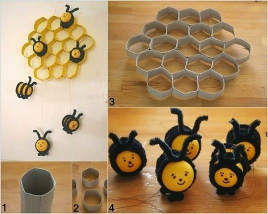 creative-diy-wall-decoration-ideas-kids-room-decor-bee-decoration