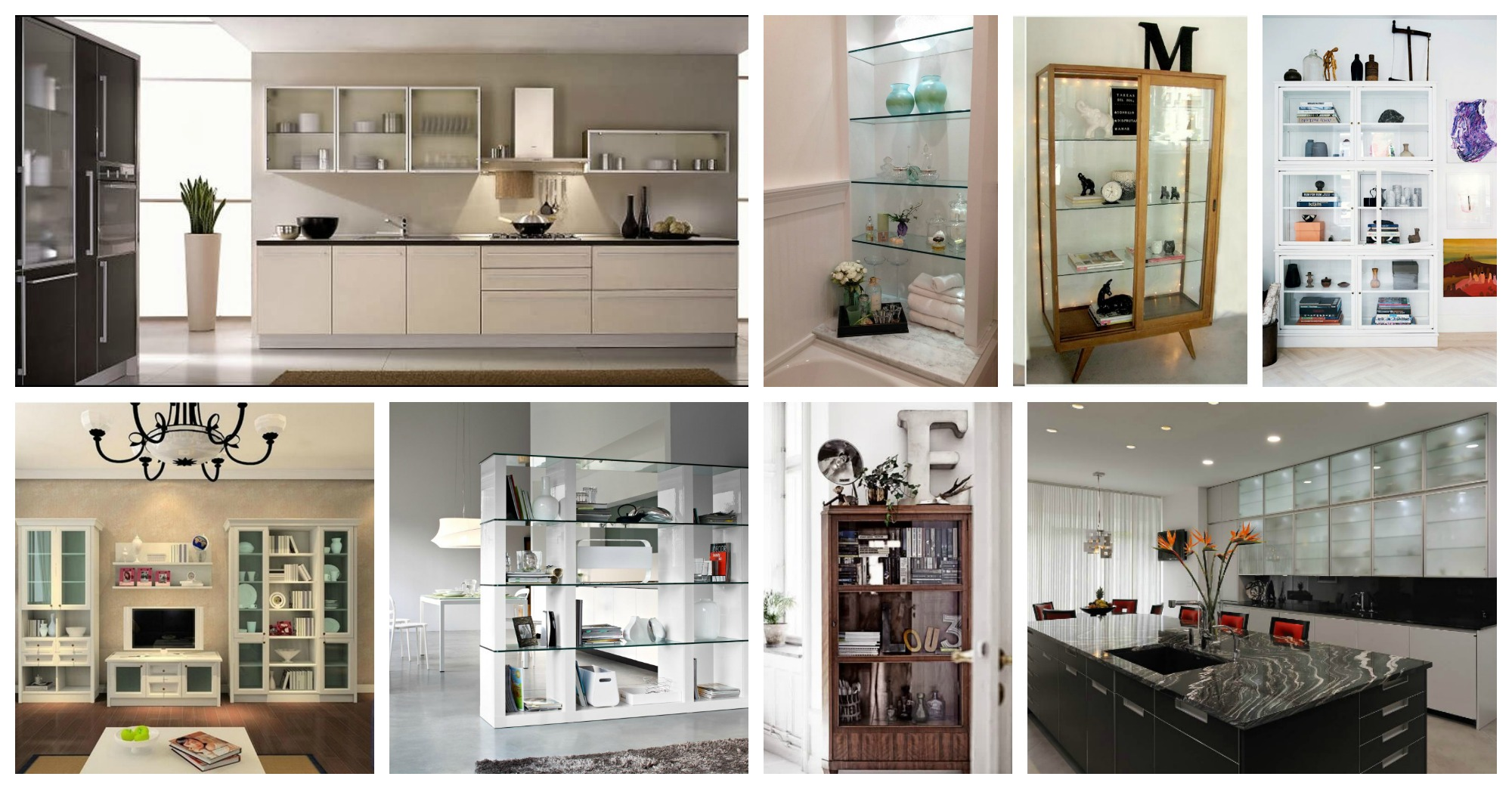 Kitchen glass cabinets pictures - How To Decorate Your Glass Cabinets In Extraordinary Ways