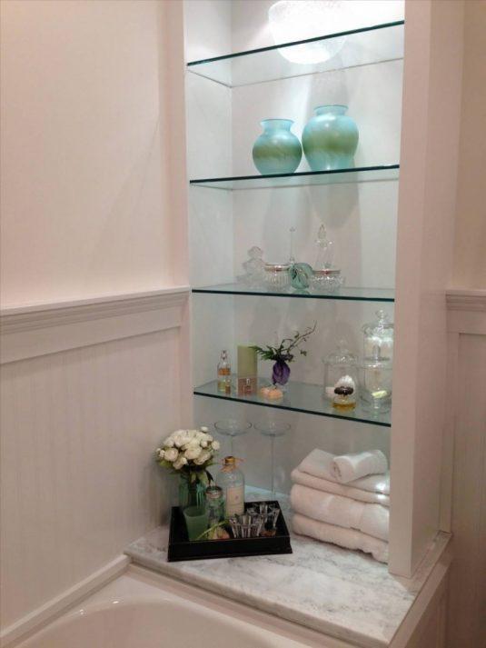 glass shelves for bathroom {modern double sink bathroom vanities|60\ -