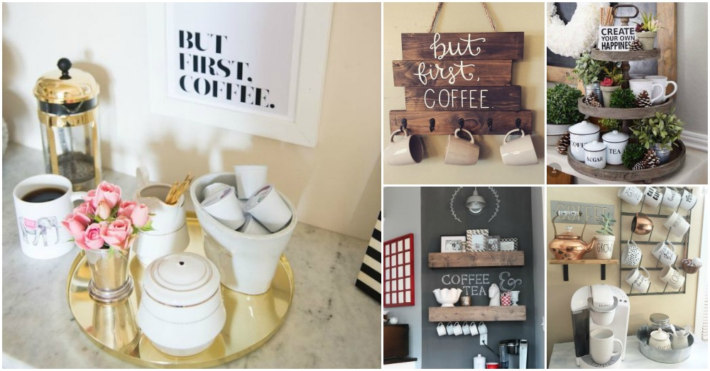 Coffee And Tea Station Is The Smartest Idea For Your Kitchen!