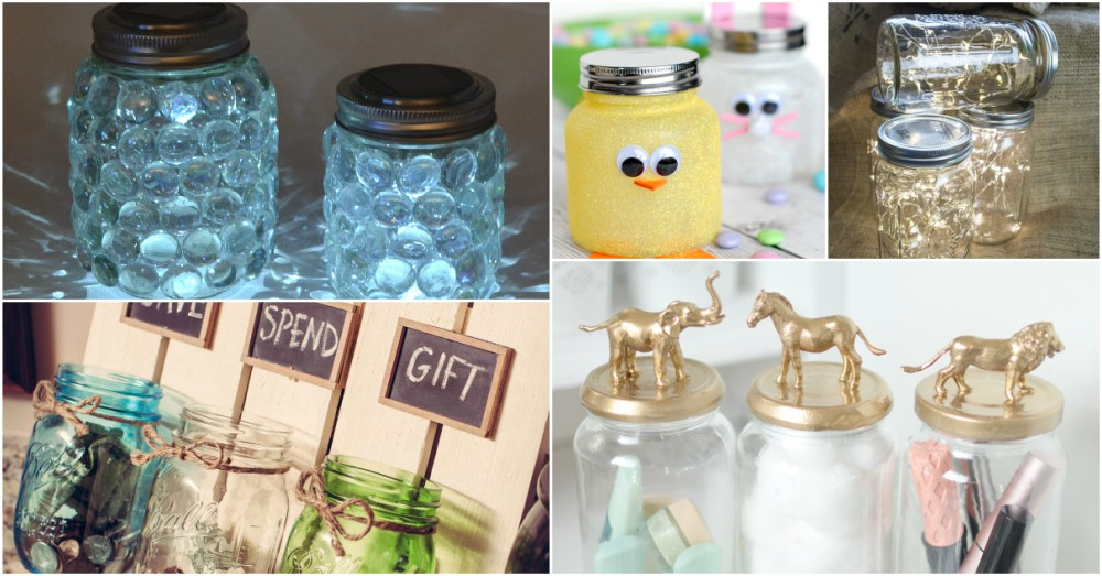 Use Your Old Jars To Make Beautiful DIY Decorations In No Time