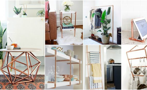 12 Cheap And Easy DIY Copper Pipe Decor For Every Room In Your Home