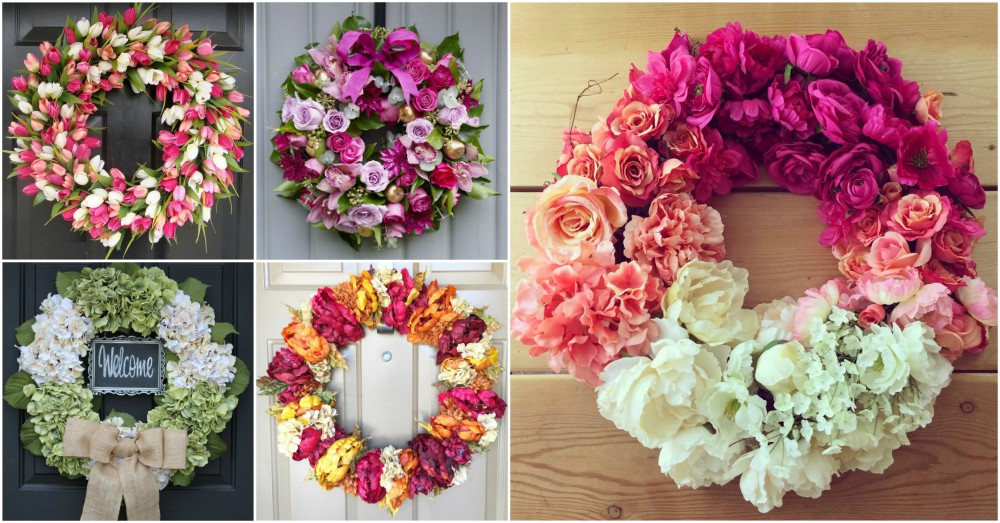 DIY Flower Wreath Is Stunning Decor For Both Indoor And Outdoor