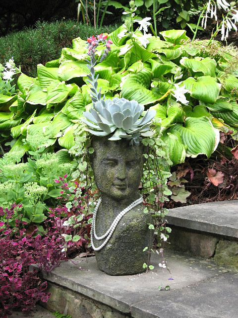 Dazzling Head Planters Will Add Some Fun To Your Garden