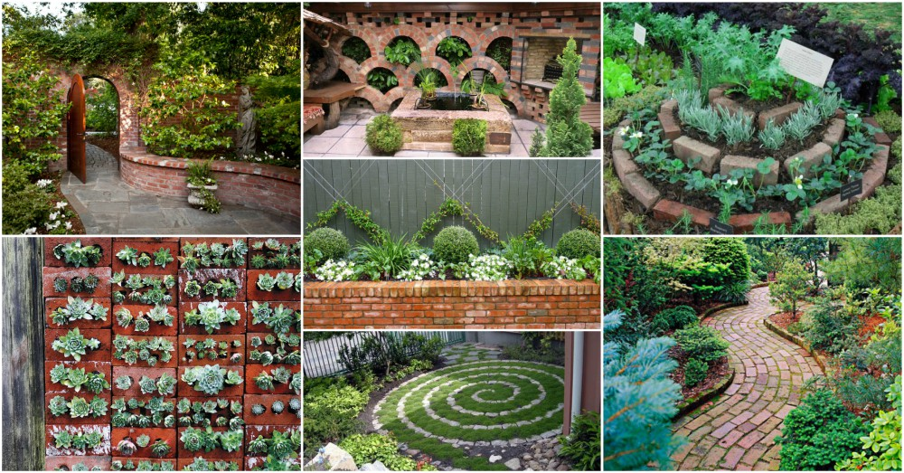 recycle old bricks into brilliant diy garden decor without spending much money - Diy Garden Decor