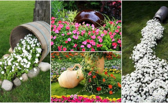 DIY Spilling Flower Pot Will Spill Joy Into Your Garden