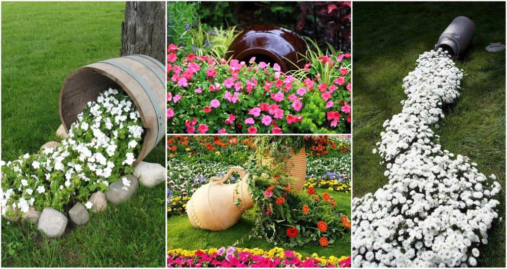 DIY Spilling Flower Pot Will Spill Joy Into Your Garden