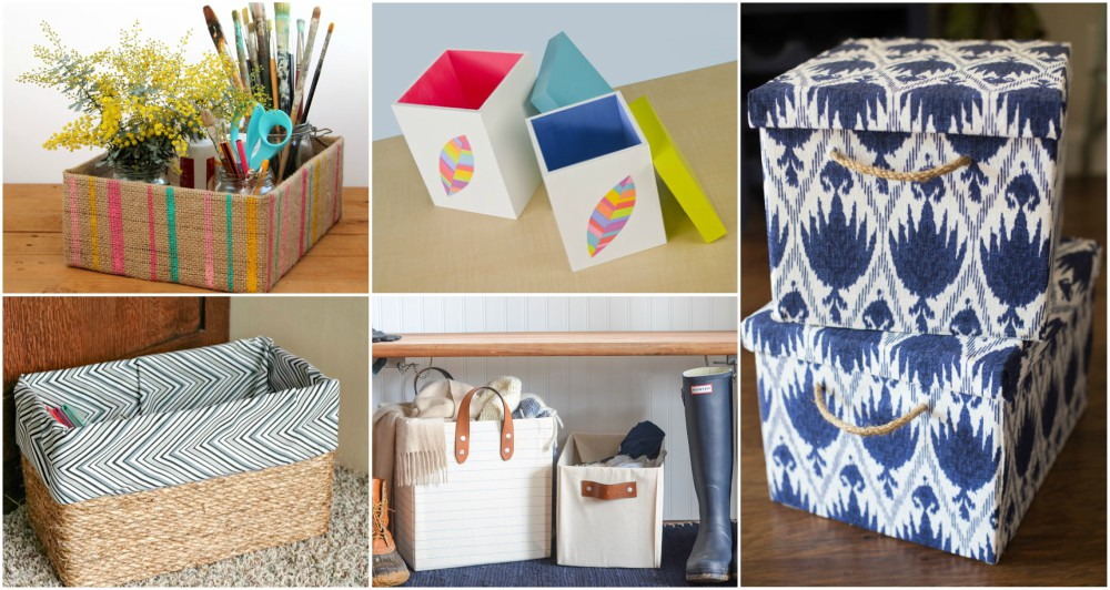 DIY Storage Boxes That Will Keep Your House Tidy And Decorated In The Same Time