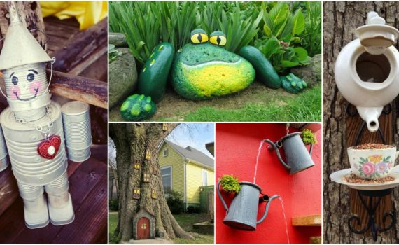 Ordinary Things Turned Into Amazing DIY Garden Decor Without Costing Anything