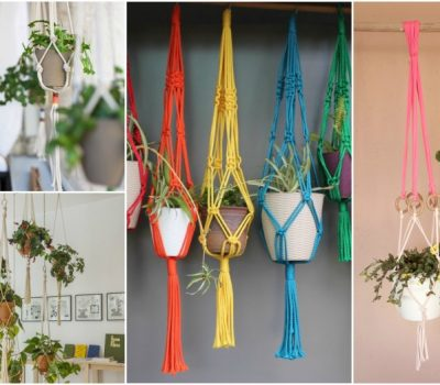 Space-Saving Macrame Hanging Planters That You Can Easily Make At Home