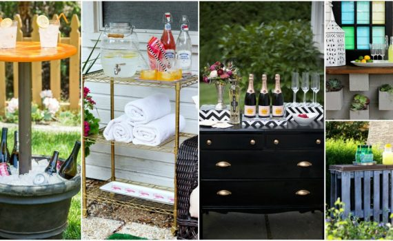 The Easiest DIY Outdoor Bar Ideas For Your Summer Parties