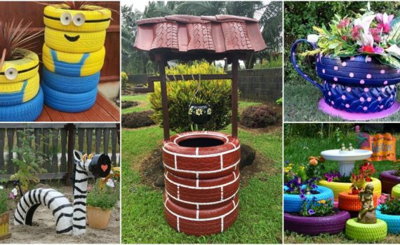 DIY Tire Decor That Brings Color In Your Garden+Very Important Tip