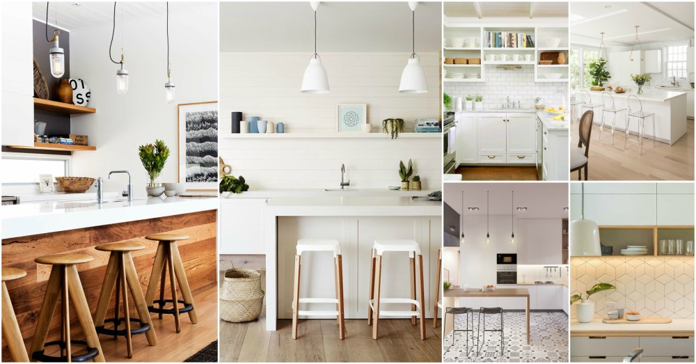 White And Wood Is The Trendiest Combination For Kitchen Design