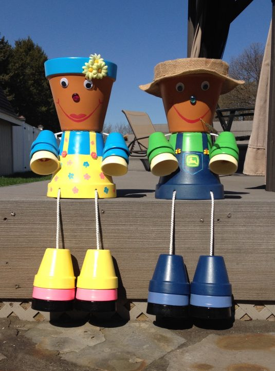 Touch Up Paint >> Cheap DIY Clay Pot People To Cheer Up Your Garden