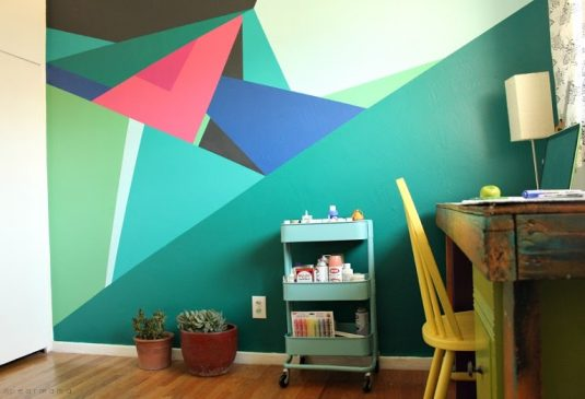 Geometric Wall Ideas To Create Eye Catching Accent Wall