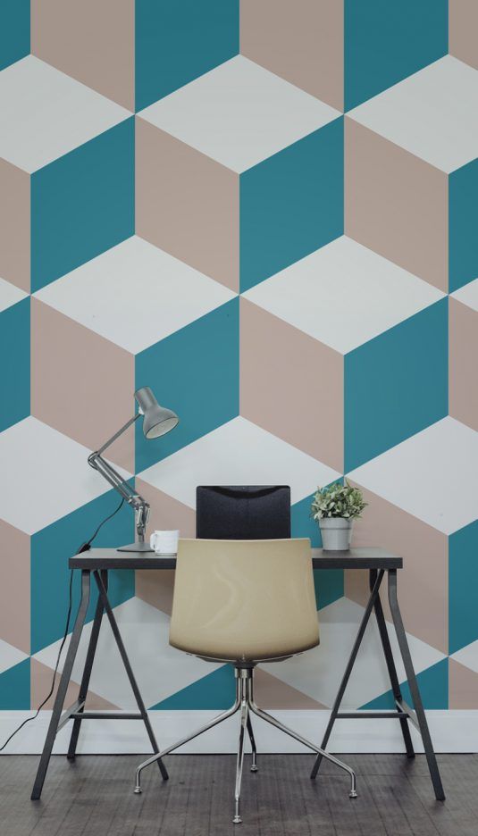 Geometric wall ideas to create eye catching accent wall - Geometric wall designs with paint ...