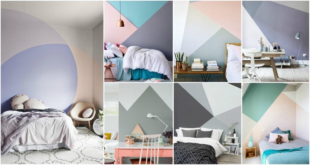 Geometric wall ideas to create eye catching accent wall for Geometric accent wall