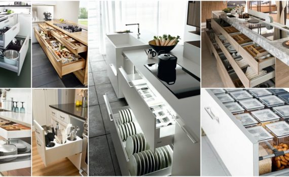 Modern Kitchen Cabinets With Clever Space-Saving Features