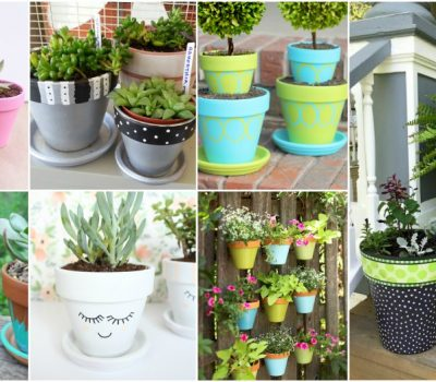 Awesome DIY Painted Clay Pots To Cheer Up Your Outdoor Space