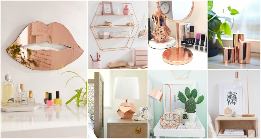 Rose gold decor for bedroom that every lady will fall in love with - Rosegold dekoration ...