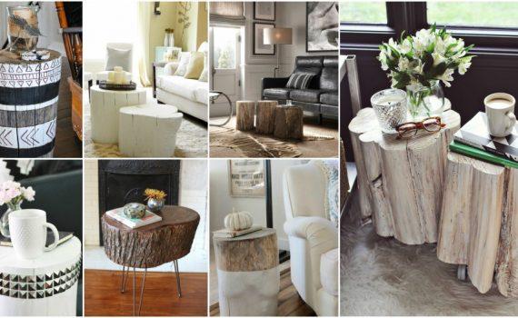DIY Tree Stump Table Ideas That Fit In Any Interior Style