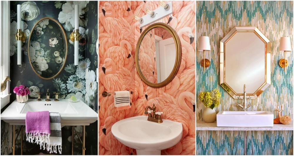 Astounding Eye Catching Bathroom Wallpaper Ideas To Break Down The Download Free Architecture Designs Scobabritishbridgeorg