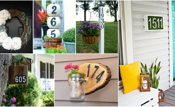 Creative DIY House Number Ideas For A Warm Welcome