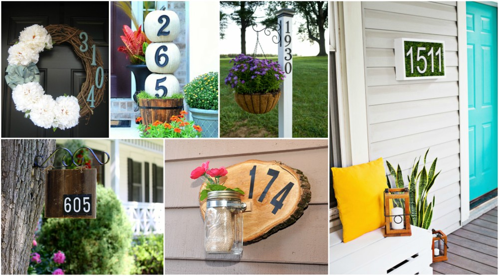 Creative DIY House Number Ideas For A Warm Welcome - Best creative house number ideas